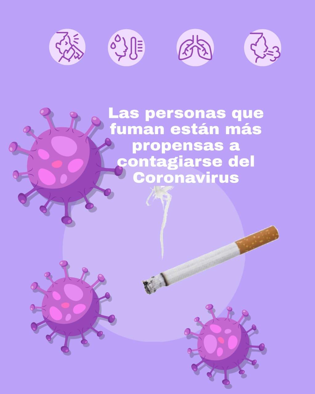 Photo of Personas fumadoras son mas propensas a recibir el COVID-19