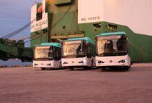 Photo of Tres autobuses eléctricos llegan al país por Caldera